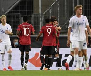 欧联-马夏尔造点B费加时绝杀 曼联3中门框险入4强