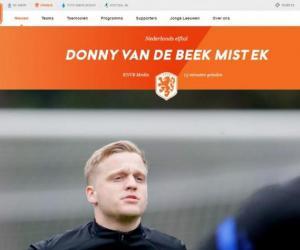 倒霉!范德贝克因伤退出欧洲杯 荷兰不再补人